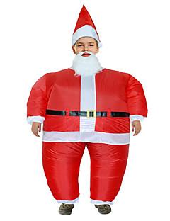 billige julen Kostymer-Nisse drakter Cosplay Kostumer Herre Tenåring Voksne Jul Jul Nytt År Festival / høytid Drakter Rød Ferie