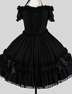 3732b40d28 Sweet Lolita Elegantní Dámské Šaty Cosplay Černá Plesové šaty Motýl Krátký  rukáv Ke kolenům Větší velikosti Na zakázku Kostýmy