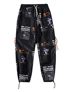 billige Herrebukser og -shorts-menns bomulls chinosbukser - geometrisk