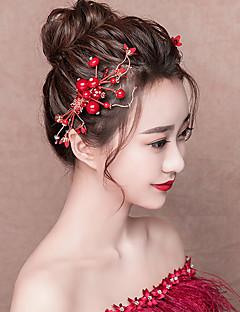billiga Lolitaaccessoarer-Dekorationer Huvudbonad Klassisk Traditionell Dam Röd Mosaik Vintage Huvudbonad Annat material Legering Kostymer