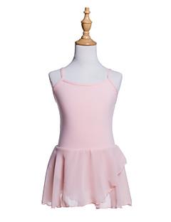tanie Stroje baletowe-Balet Sukienki Dla dziewczynek Szkolenie / Spektakl Bawełna / Żorżeta Falbany kaskadowe / Gore Bez rękawów Sukienka