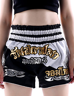 cheap Exercise, Fitness & Yoga-Muay Thai Shorts / Boxing Shorts For Martial Arts, MMA, Grappling, UFC Elastic Waistband Embroidery Lightweight, Quick Dry, Wearable Polyester Adults / Kids - Blue / Orange / White / Green white