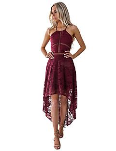 billige Kjoler til spesielle anledninger-A-linje Grime Gulvlang Blonder Cocktailfest Kjole med Blondeinnlegg av LAN TING Express