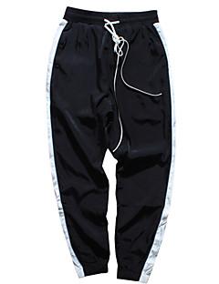 billige Herrebukser og -shorts-Herre Grunnleggende Bomull Løstsittende Joggebukser Bukser Ensfarget