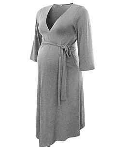 baratos Vestidos-Mulheres Elegante Bainha Vestido Sólido Altura dos Joelhos