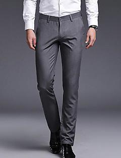 billige Herrebukser og -shorts-menns slanke chinosbukser - solid farget khaki 29