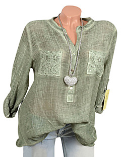 ieftine Bluze de Damă-Pentru femei Cămașă Mată Dantelă