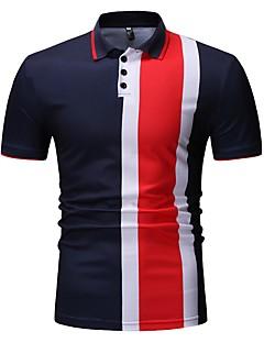 povoljno Muške polo majice-Polo Muškarci - Aktivan / Osnovni Sport / Izlasci Color block Kolaž Crno-bijela