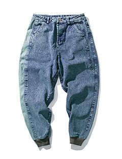 billige Herrebukser og -shorts-Herre Grunnleggende Jeans Bukser Fargeblokk