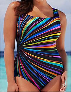 ieftine Bikini & Costume Baie-Pentru femei Maro Negru Mov Tanga O Piesă Costume de Baie - Geometric XL XXL XXXL