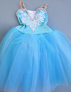 tanie Stroje baletowe-Balet Sukienki Dla dziewczynek Spektakl Spandeks Koronka / Kryształy / kryształy górskie Bez rękawów Sukienka