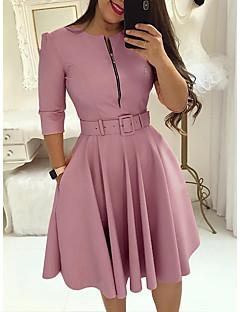 Недорогие Платья-Жен. Классический Оболочка Платье - Однотонный До колена
