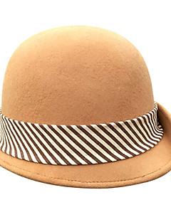 billiga Lolitaaccessoarer-Den underbara fru Maisel Cloche Hat hatt damer Retro / vintage Dam Brun Linjer / vågor Keps Ull Kostymer