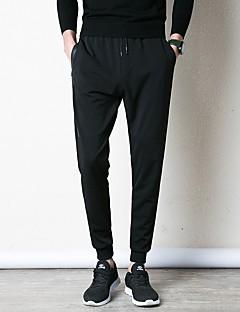 billige Herrebukser og -shorts-menns slanke chinosbukser - solidfarget svart