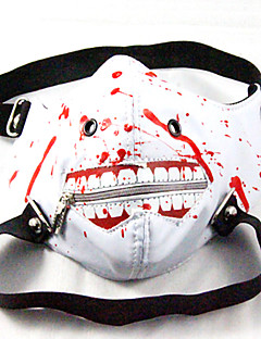 billige Masker-Maske Inspirert av Tokyo Ghoul Cosplay Anime Cosplay-tilbehør Maske PU Leather Herre ny / Varmt Halloween-kostymer