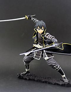 billige Anime cosplay-Anime Action Figurer Inspirert av Sword Art Online SAO Kirito Swordman PVC 18 cm CM Modell Leker Dukke