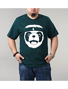cheap Men's Tees & Tank Tops-Men's Plus Size Slim T-shirt - Cartoon Round Neck / Short Sleeve