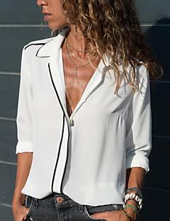 Χαμηλού Κόστους Γυναικείες Μπλούζες-Γυναικεία Μπλούζα Μονόχρωμο Κολάρο  Πουκαμίσου Λεπτό cccc013657d