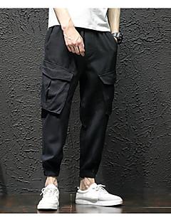 billige Herrebukser og -shorts-Herre Grunnleggende Chinos Bukser Ensfarget / Kamuflasje
