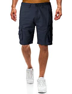 cheap Men's Pants & Shorts-Men's Military Chinos / Shorts Pants - Solid Colored Black