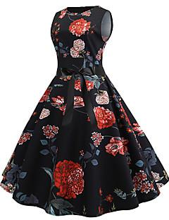 bc0d09303a38 Γραμμή Α Με Κόσμημα Μέχρι το γόνατο Ζέρσεϊ Φόρεμα με Σχέδιο   Στάμπα με LAN  TING Express