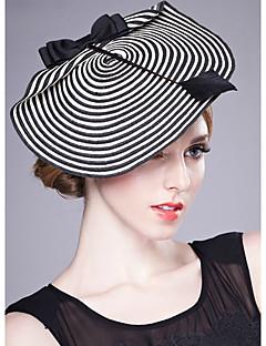 6bfa9bd3d4a Women s Party Straw Bucket Hat-Striped All Seasons Black