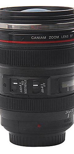 cheap -Stainless Steel Camera Lens Shaped Mugs Coffee Mugs Tea Cup Travel Vacuum Flasks