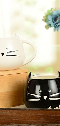 "cheap -300ml Black And White Cute Cat Animal Cup Creative Water Mug(5.1""x4.3""x3.7"")"