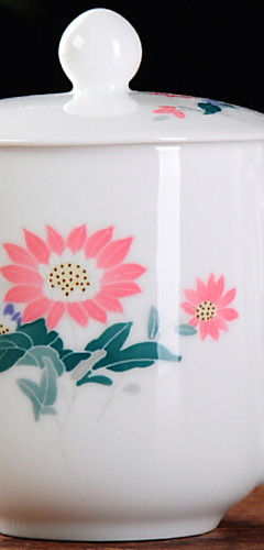 cheap -Drinkware Porcelain Tea Cup Mug Heat-Insulated 1pcs