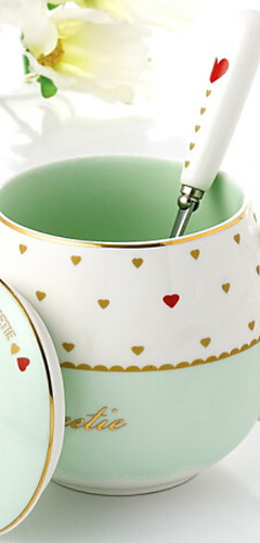 cheap -Drinkware Porcelain Coffee Mug Heat-Insulated 1pcs
