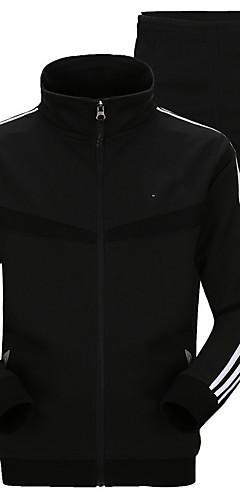 abordables -Homme Survêtement Des sports Mode Coton Ensembles de Sport Course / Running Fitness Entraînement de gym Manches Longues Grandes Tailles Tenues de Sport Chaud Respirable Haute élasticité
