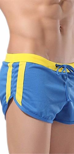 abordables -Homme Cordon Shorts de Course Running Des sports Bloc de Couleur Maille Shorts Sous-vêtements Fitness Entraînement de gym Entraînement Tenues de Sport Poids Léger Respirable Séchage rapide Doux