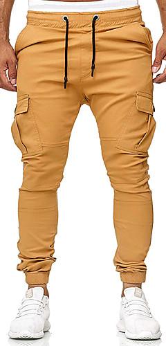 abordables -Homme Pied de faisceau Pantalon de Survêtement Des sports Couleur unie Pantalons / Surpantalons Fitness Entraînement de gym Tenues de Sport Séchage rapide Micro-élastique Mince