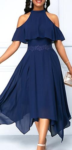 זול -א-סימטרי אחיד - שמלה סווינג בגדי ריקוד נשים