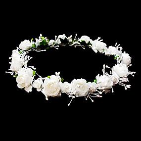 voordelige Bloemenmeisjesaccessoires-hoofddeksels bruiloft bloem meisje krans met mooie bloemen