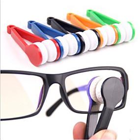 tanie Akcesoria podróżnicze i bagażowe-1 szt. Czyszczenie okularów Przenośny / Wielofunkcyjny na Przenośny / Wielofunkcyjny Mikrowłókno / ABS - Czerwony / Zielony / Niebieski