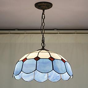 billige Tiffany Lamper-Perler dekorasjon anheng, 2 Light, Tiffany Resin Glass Painting Processing