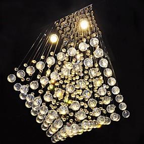 tanie Mocowanie przysufitowe-SL® Kryształ Lampy sufitowe Światło rozproszone Chrom Kryształ Świeca 110-120V / 220-240V / GU10