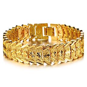 billige Vintage Armbånd-Dame Mansjettarmbånd Armbånd damer Stilfull Dubai Gullbelagt Armbånd Smykker Til Bryllup Fest Hverdag Daglig Avslappet