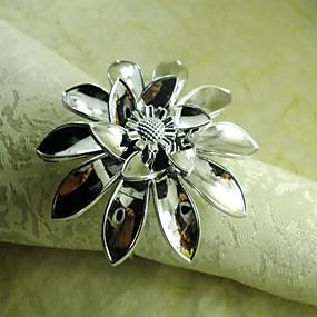 povoljno Prsteni za ubruse-Reciklirani papir Prsten za ubrus Patterned Eco-friendly Dekoracije stolova 12 pcs