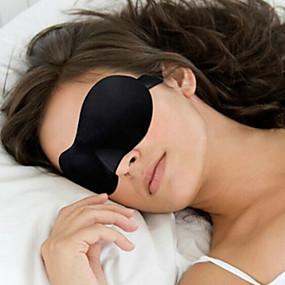 billige Reise-Sovemaske 3D Bærbar Solskygge Justerbare Bekvem Avslapning på reisen Sømløs Pusteevne 1set til Reise