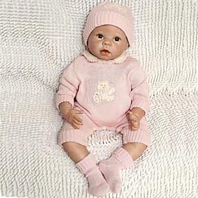 povoljno Igračke-NPKCOLLECTION NPK DOLL Autentične bebe Beba 22 inch Silikon Vinil - novorođenče vjeran Hand Made Sigurno za djecu Non Toxic Ručni primijenjeni trepavice Dječjom Djevojčice Igračke za kućne ljubimce