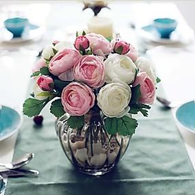 economico Liquidazione-Fiori Artificiali 1 Ramo Stile semplice Rose Fiori da tavolo