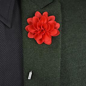 """baratos Flores-Bouquets de Noiva Alfinetes de Lapela / Decoração de Casamento Original Ocasião Especial Cetim / Metal 3.15""""(Aprox.8cm)"""
