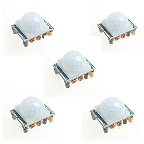 billiga Sensorer-5st hc-sr501 infraröd människokroppen induktions modul pyroelektrisk infraröd sensor sond för Arduino