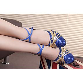 billige Moderne sko-Dame Balett / Sko til latindans / Dansesko Glimtende Glitter / Paljett / Syntetisk Høye hæler / Sandaler / Joggesko Paljett / Gummi /