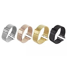 Χαμηλού Κόστους Αξεσουάρ για έξυπνα ρολόγια-Παρακολουθήστε Band για Apple Watch Series 4/3/2/1 Apple Μιλανέζικη Πλέξη Ανοξείδωτο Ατσάλι Λουράκι Καρπού