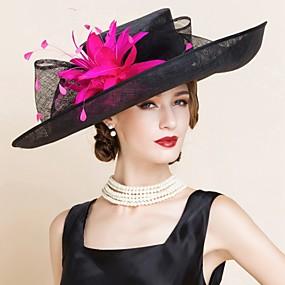 levne Kentucky Derby Hat-len Klobouk Kentucky Derby / Klobouky s 1 Svatební / Zvláštní příležitosti Přílba
