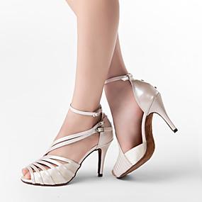 abordables Chaussures de Danse-Femme Chaussures de danse Cuir PU / Satin Chaussures Latines / Chaussures de Salsa Boucle Sandale Talon Personnalisé Personnalisables Gris / Nu / Noir / EU41
