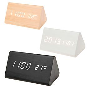 74c3f9484 رخيصةأون ساعات منبه-متعدد الألوان الأصوات السيطرة على مدار الساعة خشبية  جديدة الخشب الحديثة الرقمية
